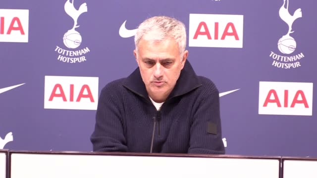 "tottenham head coach jose mourinho revealed harry winks is set to be out for ""weeks not months"" after picking up an ankle injury in the 2-1 win over... - var stock videos & royalty-free footage"