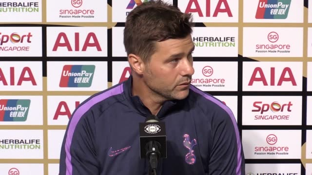 Tottenham head coach Mauricio Pochettino and Juventus head coach Maurizio Sarri postmatch press conferences after Spurs won 32 against Juventus in...
