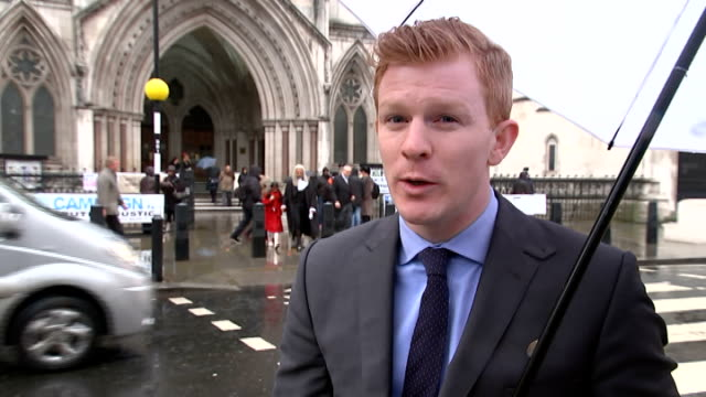 tottenham hotspur found liable for player's brain damage royal courts of justice reporter to camera - brain damage stock videos & royalty-free footage