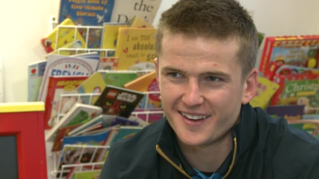 Tottenham Hotspur players sing carols for children at North Middlesex Hospital Eric Dier interview SOT/