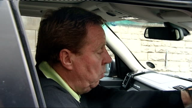 tottenham hotspur sack manager harry redknapp dorset christchurch ext redknapp speaking to press sot club decided they wanted to have a change - ハリー レッドナップ点の映像素材/bロール