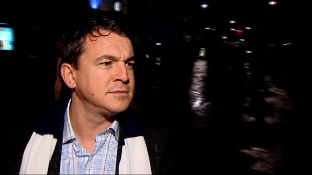 tottenham hotspur to register interest in london 2012 olympic stadium; 29.9.2010 tottenham: white hart lane: ext / night tottenahm hotspur fans along... - 見渡す点の映像素材/bロール