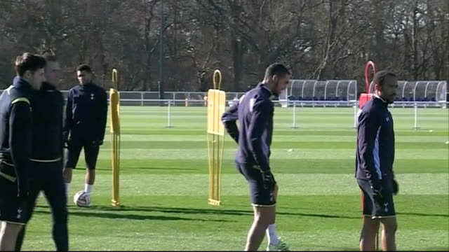 london enfield ext close shots footballs / tottenham hotspur footballers along including christian eriksen emmanuel adebayor and harry kane in... - harry kane soccer player stock videos & royalty-free footage