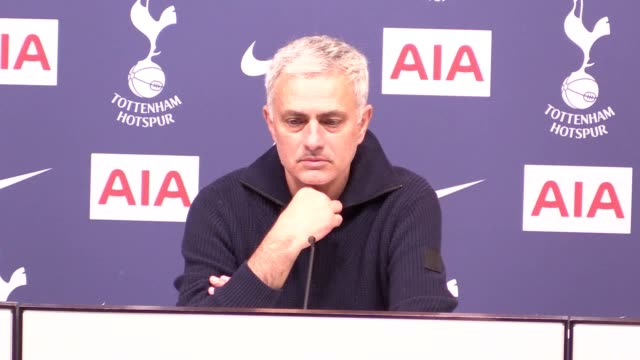 tottenham manager jose mourinho previews his side's fa cup fourth round tie with southampton. the portuguese revealed harry winks is set to be out... - 0 1 months stock videos & royalty-free footage