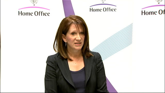 lynne featherstone press conference england london home office int lynne featherstone mp press conference sot we've witnessed some appalling scenes... - conference phone stock videos & royalty-free footage