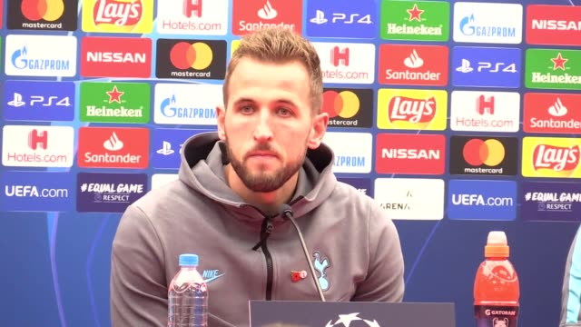 tottenham striker harry kane gives a press conference ahead of the team's champions league game against red star belgrade on october 6 strikers son... - harry kane soccer player stock videos & royalty-free footage