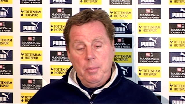 White Hart Lane INT Harry Redknapp press conference SOT let's hope they can find someone to invest in club