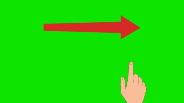 vídeos de stock, filmes e b-roll de tela de seleção por toque de gestos com as placas. chroma verde - indo em direção