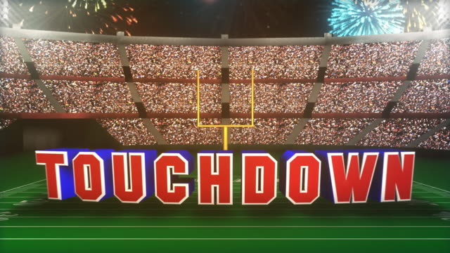 touchdown graphic. - american football pitch stock videos & royalty-free footage
