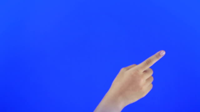 touchscreen gestures. blue screen - interactivity stock videos & royalty-free footage