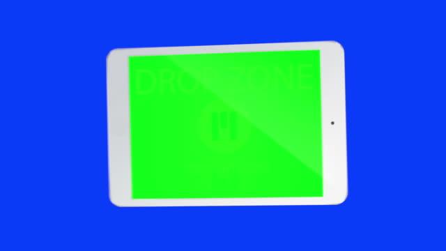 Touchscreen tablet Gesten mit chroma-keys.  HD -