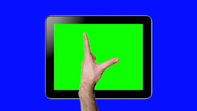 Touchscreen tablet gestures with chroma keys. HD
