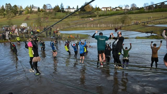 tough guy challenge on january 27 2013 in telford england - tough mudder stock videos and b-roll footage