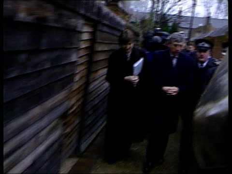 london home secretary jack straw mp police officers and others along on visit to housing estate accompanied with local mp harriet harman london int... - jack straw stock videos & royalty-free footage
