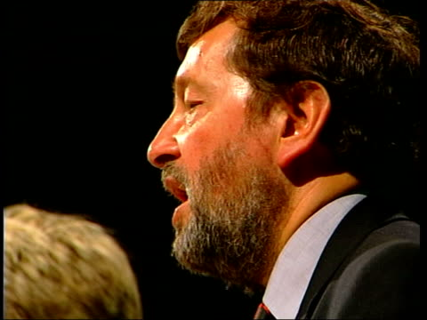 tougher sentencing announced itn london blunkett on stage at meeting blunkett speaking david blunkett mp interviewed sot if someone has committed... - sentencing stock videos & royalty-free footage