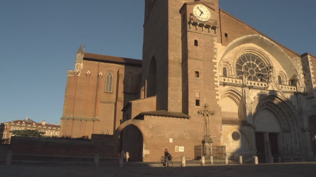 toulouse cathedral - toulouse stock videos & royalty-free footage