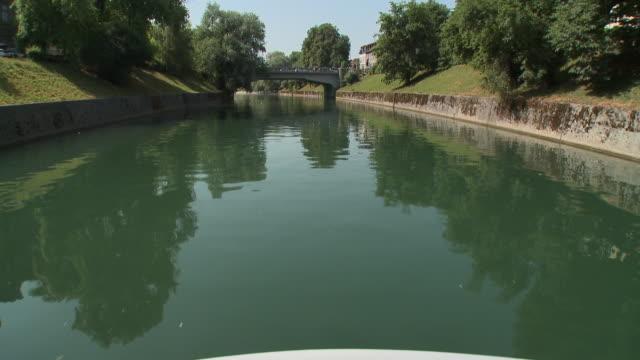 POV TU Tour boat on Ljubljanica River, Ljubljana, Slovenia