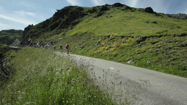 Tour de France riders descend the Col de la Croix de Fer