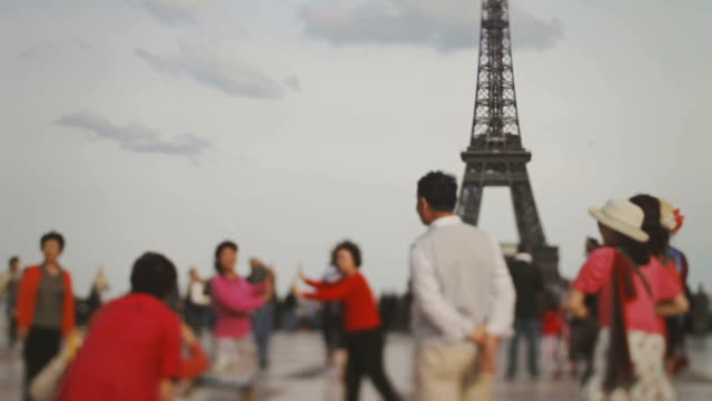 tour eiffel tower from trocadero, paris, france - tourism stock videos & royalty-free footage