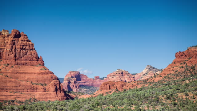 Tour Group at the Red Rocks of Sedona - Timelapse