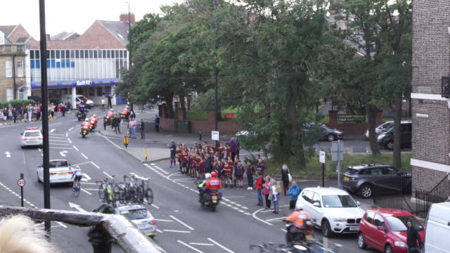 tour of britain cycle race passes through tynemouth en route to newcastle upon tyne on september 09 2019 in tynemouth england - tour of britain stock videos & royalty-free footage