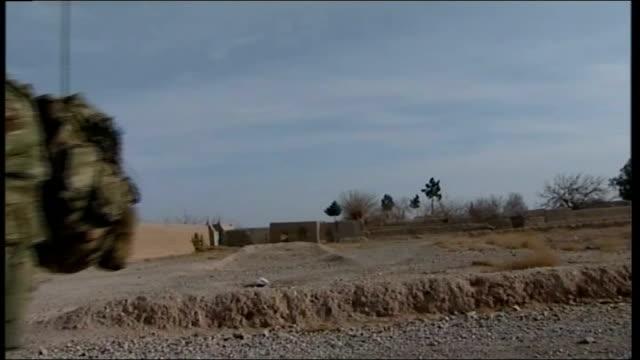 sergeant major david mcgrath; afghanistan: ext sergeant major david mcgrath giving instructions sot mcgrath along road as on patrol mcgrath leading... - sergeant stock videos & royalty-free footage