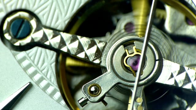 tourbillon close up on white dial - cog stock videos & royalty-free footage