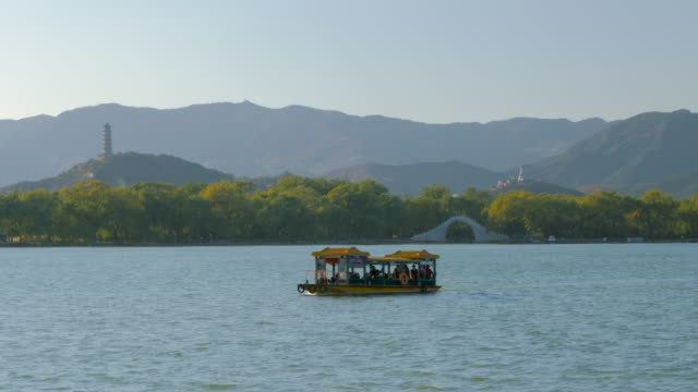 WS Tourboat on Kunming Lake, Summer Palace, UNESCO World Heritage Site, Beijing, China