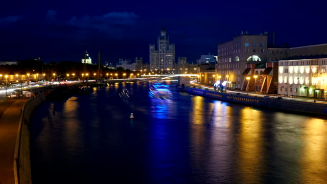 Tourboat traffic on Moskva River