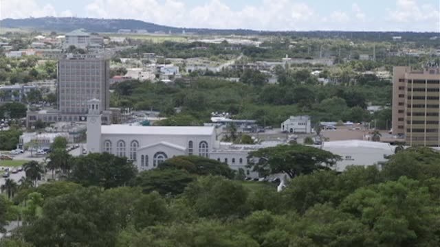 tourism dependent guam is looking to cash in on its new found fame as a north korean missile target tapping an unlikely promotional opportunity to... - guam video stock e b–roll