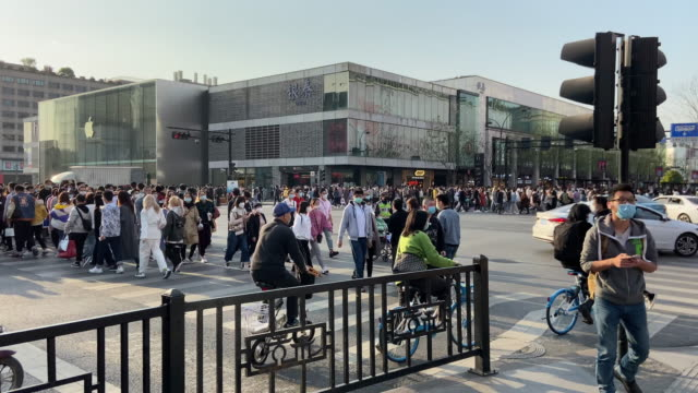 tourist are walking near west lake. for the covid-19 epidemic situation is much better in china, more and more people go outdoors to enjoy early... - open stock videos & royalty-free footage