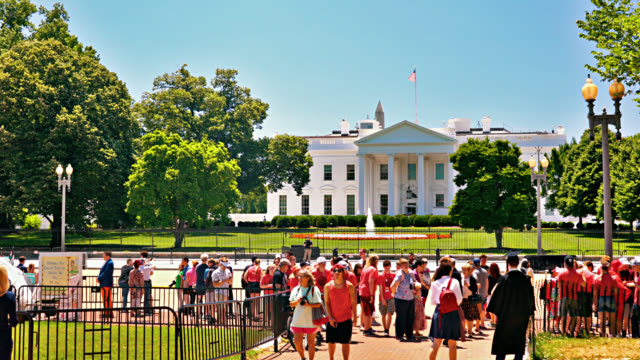 tourist at lafayette square and white house. - president stock videos & royalty-free footage