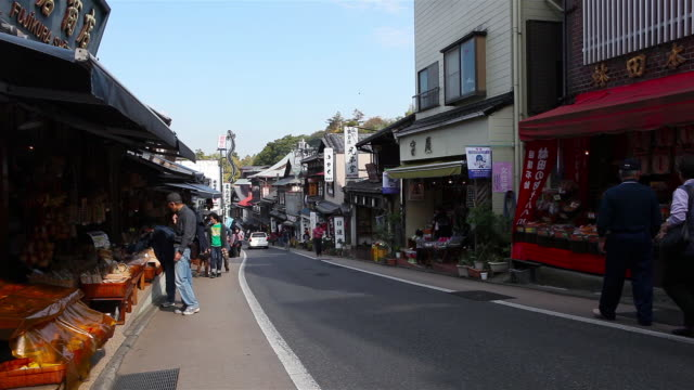 tourist at narita temple area - 小道点の映像素材/bロール