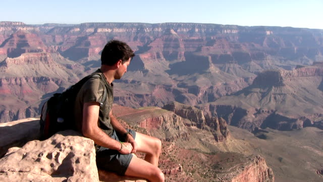 HD: Tourist durch den Grand Canyon