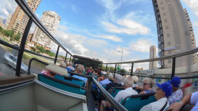 Tourist City Bus travels around the city of Benidorm