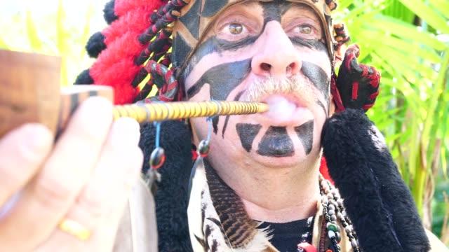 Tourist Costumed as Indigenous Portrait