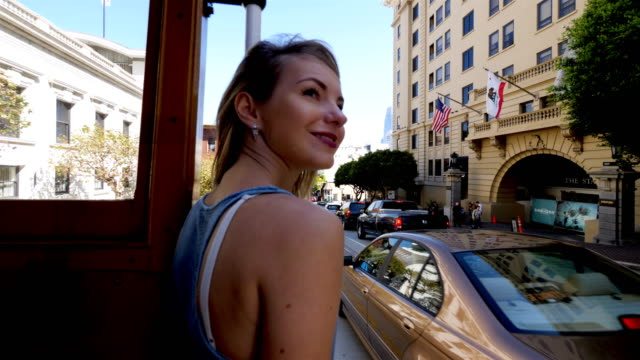 tourist exploring san francisco - tram stock videos & royalty-free footage