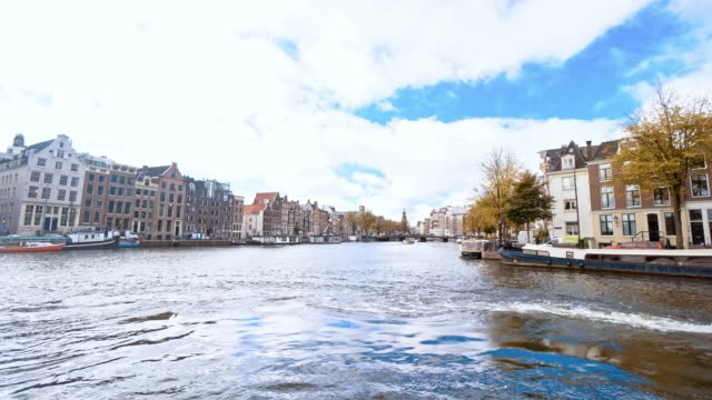 tourist famous place at amsterdam netherlands - moat stock videos and b-roll footage