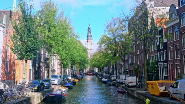 tourist famous place at amsterdam netherlands - amsterdam stock videos & royalty-free footage