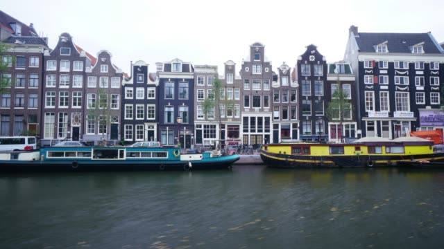 オランダ アムステルダムの観光名所 - 環状運河地区点の映像素材/bロール
