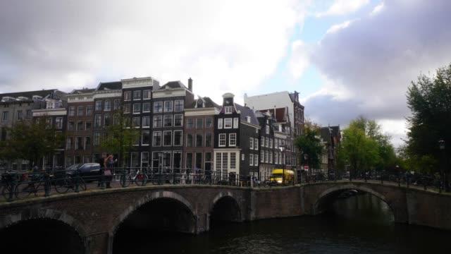 vídeos de stock e filmes b-roll de tourist famous place at amsterdam netherlands - vala