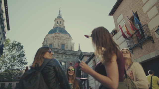 tourist girls in madrid - madrid stock videos and b-roll footage