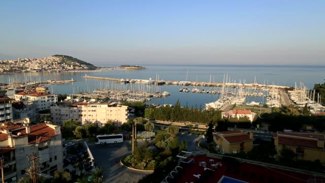 tourist harbor, kusadasi, turkey - aydın province stock videos and b-roll footage