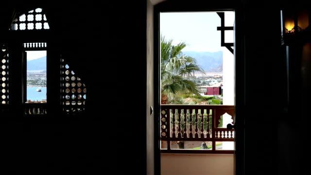 tourist hotel in sharm el-sheikh. egypt. - egypt stock videos & royalty-free footage
