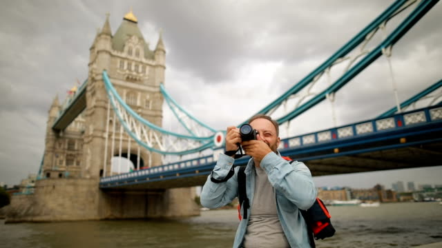 tourist in london - london bridge england stock videos and b-roll footage