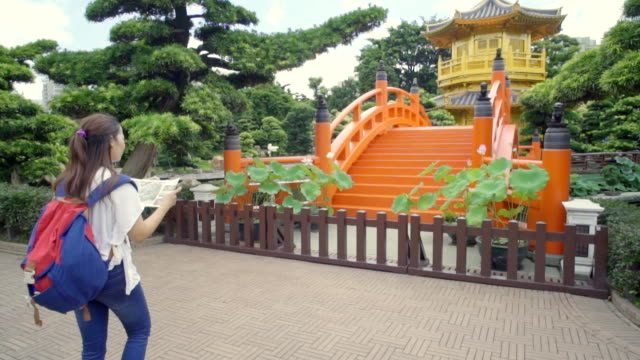 Tourist in Nan Lian Garden ,Hong Kong