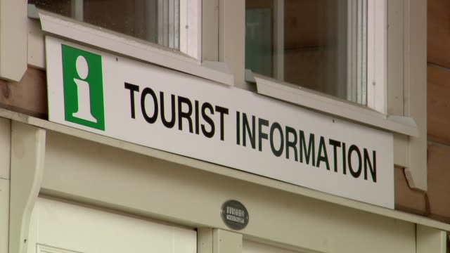 tourist information - sign in english - information sign stock videos & royalty-free footage