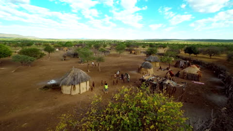 heli tourist photographing the himba tribe - africa stock videos & royalty-free footage