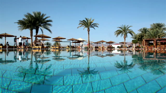 tourist resort in sharm el-sheikh. egypt - parasol stock videos & royalty-free footage