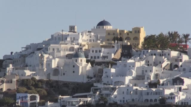 tourist season officially kicks off in greece following the coronavirus pandemic as hotels and beaches seek to attract visitors as the country's two... - santorini stock videos & royalty-free footage